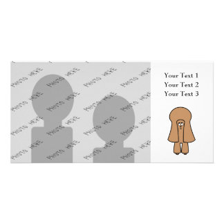 Cute Dog. Chocolate Brown Miniature / Toy Poodle. Card