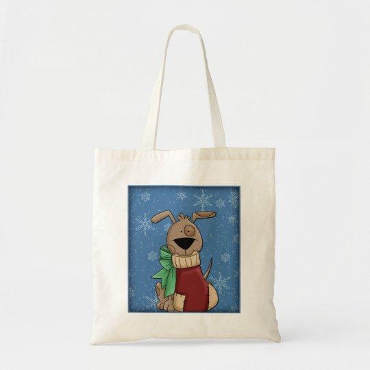 Cute Dog - Christmas Design Tote Bag