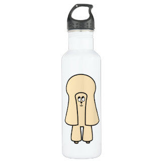 Cute Dog. Cream Toy Poodle / Miniature Poodle. 710 Ml Water Bottle