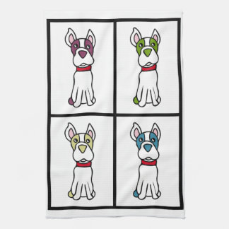 Cute Dog Dishtowel - Boston Terrier Hand Towel