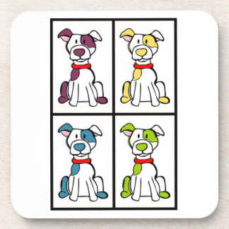 Cute Dog Drawing - Bully Breed Coaster