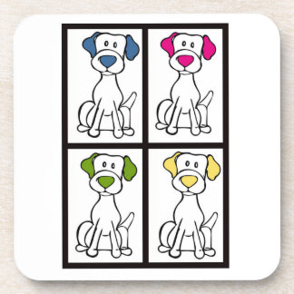 Cute Dog Drawing - Labrador Coaster
