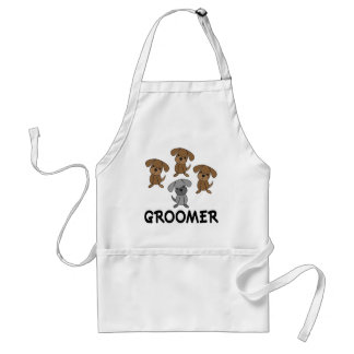 Cute Dog Groomer Occupation Gift Standard Apron