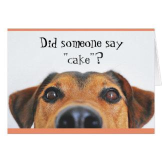 Cute Dog Happy Birthday Greeting Card