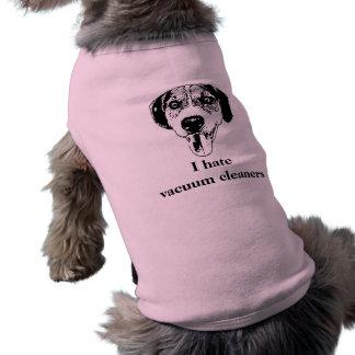 Cute dog hates housework shirt sleeveless dog shirt