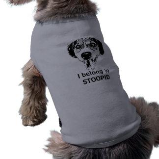 Cute dog insults owner shirt sleeveless dog shirt