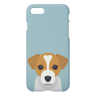 Cute dog on cyan background iPhone 8/7 case