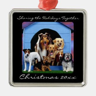 Cute Dog Pack Family Pet Personalized Ornaments