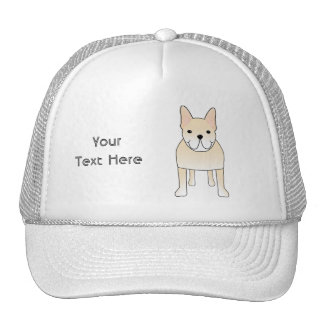 Cute Dog. Pale Cream French Bulldog. Trucker Hats