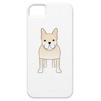 Cute Dog. Pale Cream French Bulldog. iPhone 5 Cover