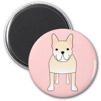 Cute Dog. Pale Cream French Bulldog. Magnet