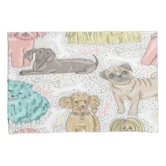 Cute Dog Pattern Pillow Cases