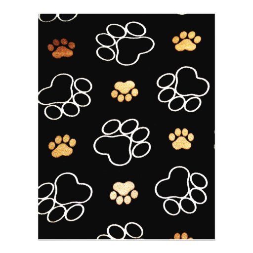 Cute Dog Paws Personalized Flyer