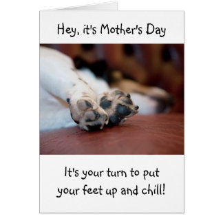 Cute Dog Paws Mother's Day Card