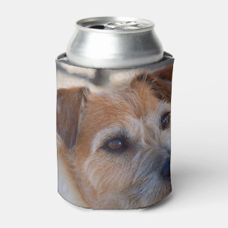 Cute dog photo can cooler