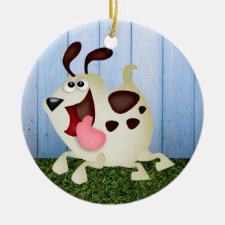 Cute Dog / Pup Christmas Ornament