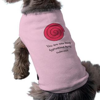 Cute dog shirt with hypnotizing effect