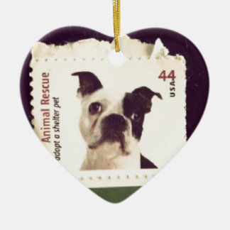 Cute Dog Stamped Christmas Ornaments
