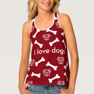 Cute Dog Theme Tank Top