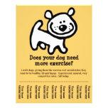 CUTE! Dog Walking promotion tear-sheet flyer_Y Full Colour Flyer