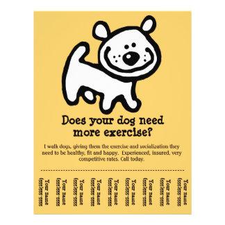 CUTE! Dog Walking promotion tear-sheet flyer_Y 21.5 Cm X 28 Cm Flyer
