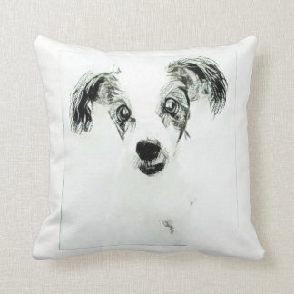 Cute Dog with Big Ears Throw Pillow