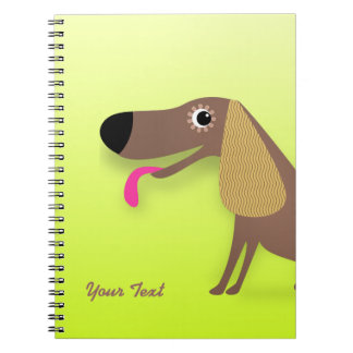 Cute dog with floppy ears note book