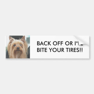 Cute Doggie BACK OFF Bumper Sticker Car Bumper Sticker