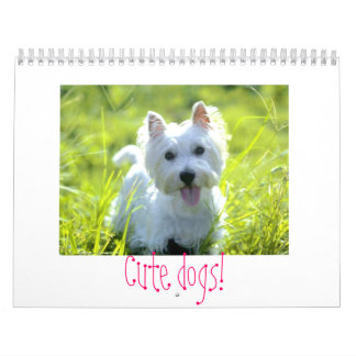 """Cute dogs"" calander! Wall Calendars"