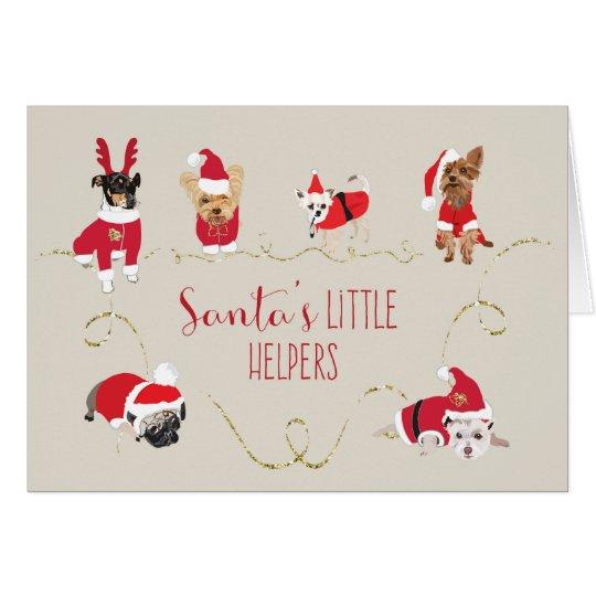 Cute dogs Christmas card