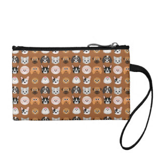 Cute Dogs on Brown Coin Purse