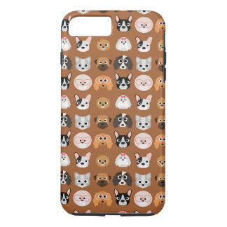 Cute Dogs on Brown iPhone 7 Plus Case