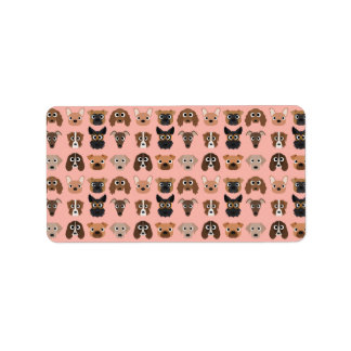 Cute Dogs on Pink Address Label