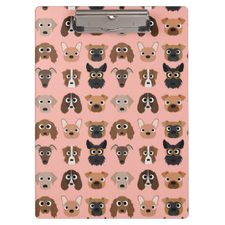 Cute Dogs on Pink Clipboard