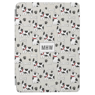 Cute Dogs Pattern custom monogram device cases iPad Air Cover
