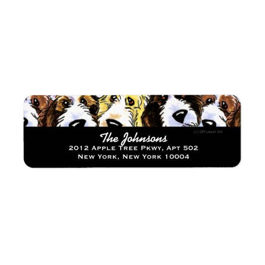 Cute Dogs PBGV Pack Custom Colour Return Address Label