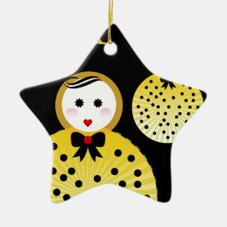 Cute doll design Beebushka Christmas Ornament