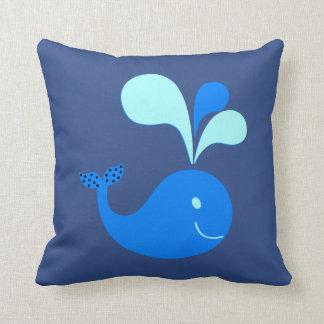 Cute dolphin animal baby kids room blue throw pillow