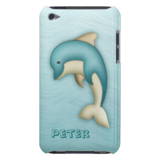 Cute Dolphin Monogram Case-Mate Case Barely There iPod Cases