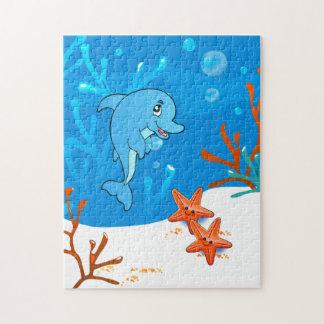 Cute Dolphin Ocean Puzzle
