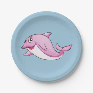 Cute Dolphin paper plates