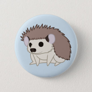 Cute Domestic Pygmy Hedgehog 6 Cm Round Badge