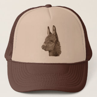 Cute donkey drawing realist animal art hat