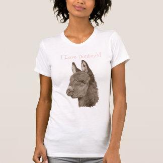 Cute donkey drawing realist animal art t-shirt
