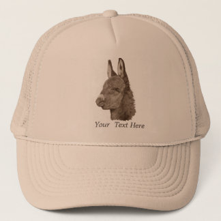 Cute donkey drawing realist animal art trucker hat
