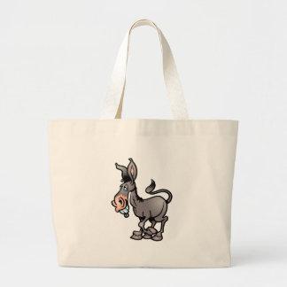 Cute Donkey Large Tote Bag