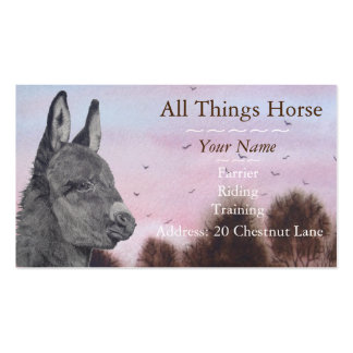 Cute donkey picture art animal veterniary pack of standard business cards