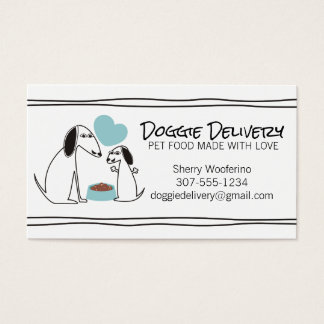 Cute doodle dog puppy homemade pet food chef