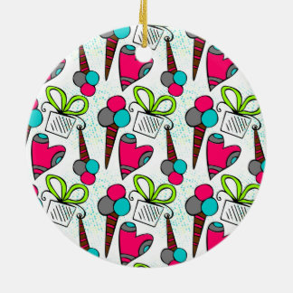 Cute doodle gifts and ice cream design christmas ornament