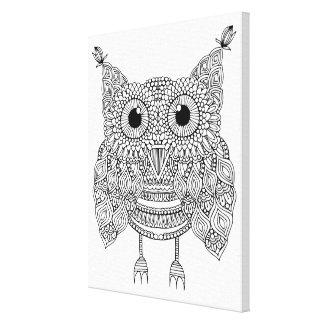 Cute Doodle Owl 6 Canvas Print